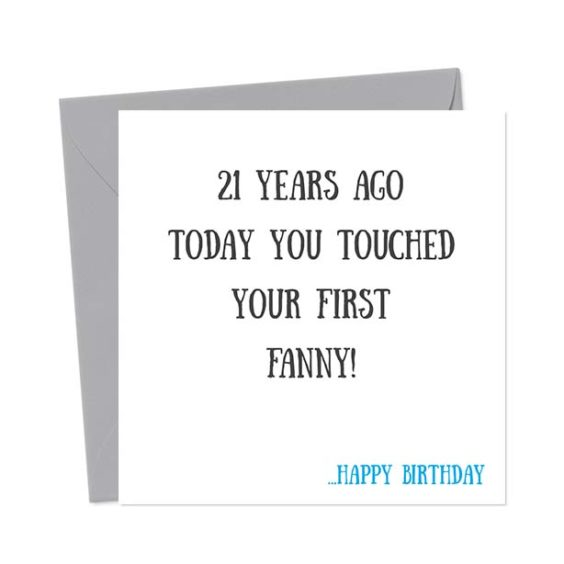 [Choose Age] years ago today you touched your first fanny! – Happy Birthday