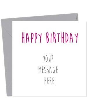 Happy Birthday - Write Your Own Message... If You Dare