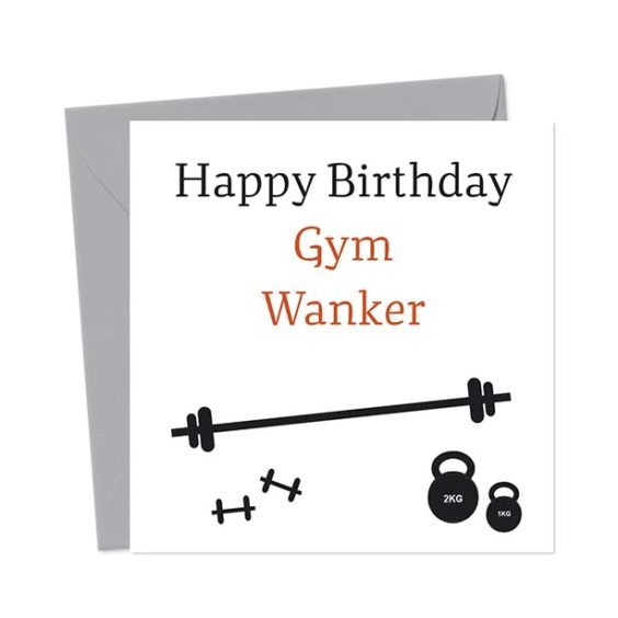Happy Birthday Gym Wanker