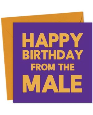 Happy Birthday from the Male - Birthday Card