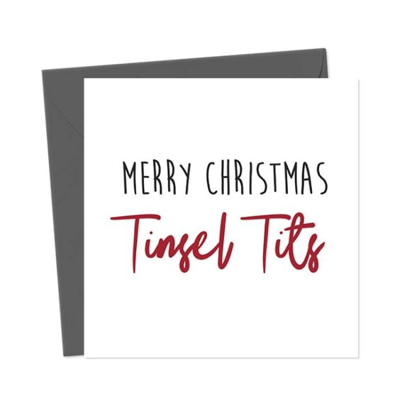 Merry Christmas Tinsel Tits – Christmas Card