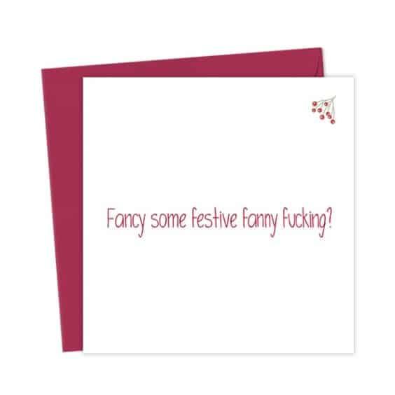 Fancy some festive fanny fucking?