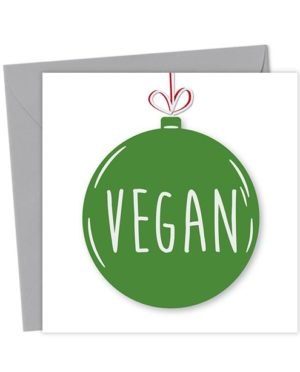 Vegan Bauble Card - Christmas Card