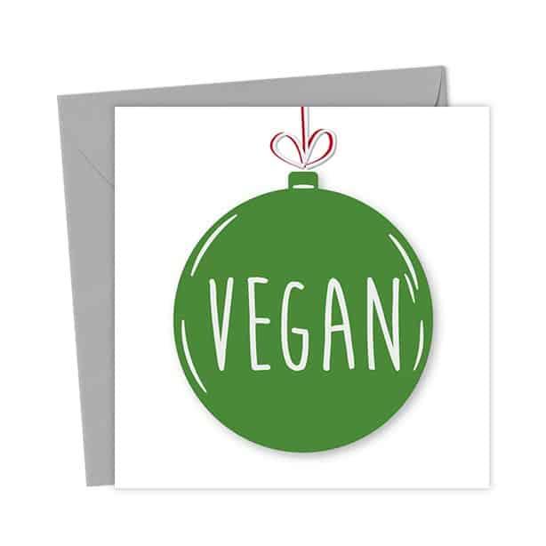 Vegan Bauble Card – Christmas Card