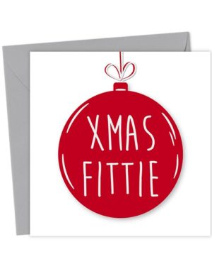 Xmas Fittie Bauble Card - Christmas Card