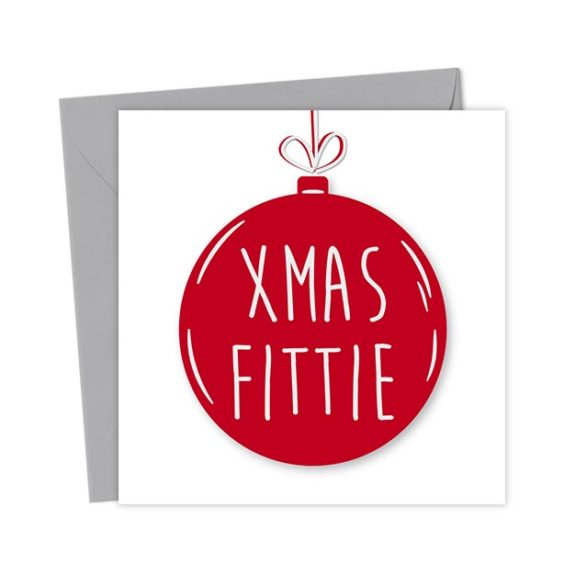 Xmas Fittie Bauble Card – Christmas Card