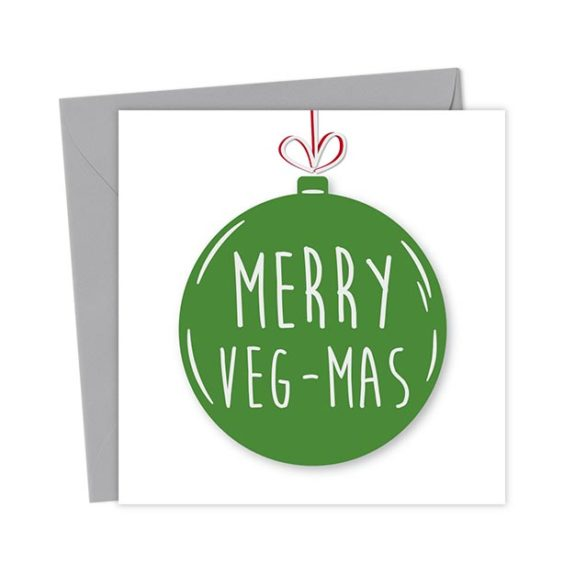 Merry Veg-mas Bauble Card