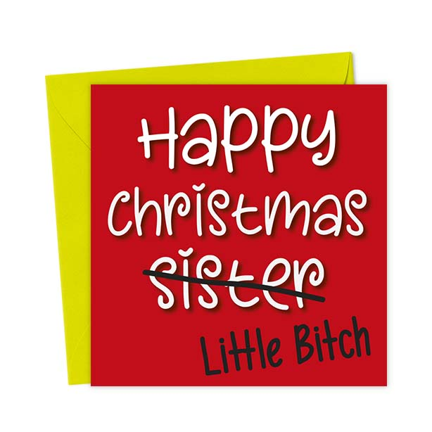 Happy Christmas Sister Little Bitch