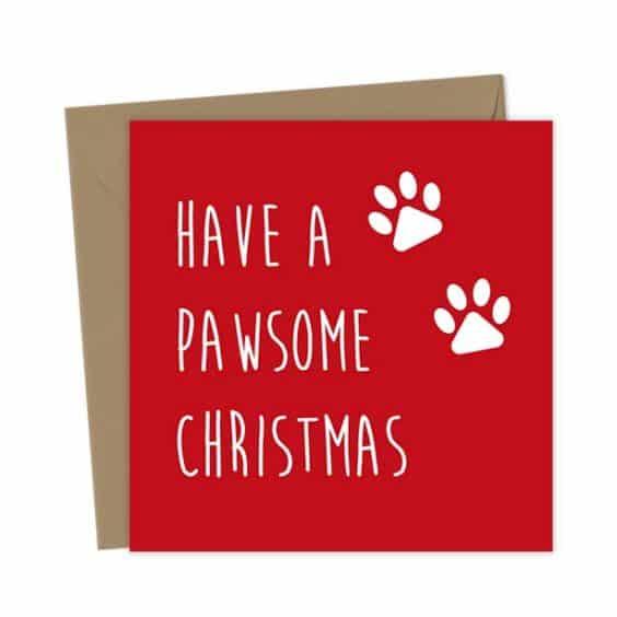 Have a pawsome Christmas