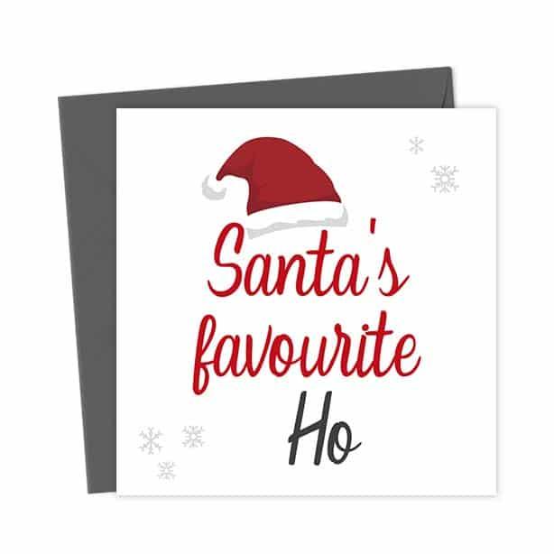 Santa's Favourite Ho Christmas Card