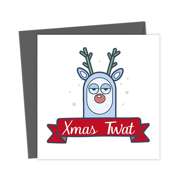 Xmas Twat Christmas Card