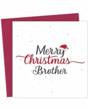 Merry Christmas Brother - Christmas Card