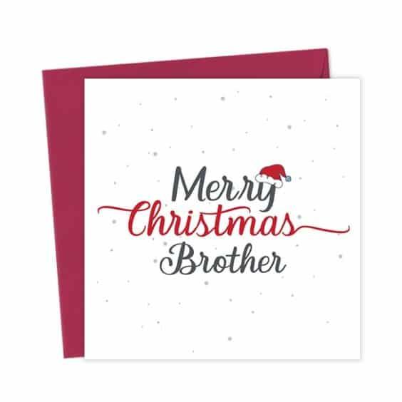 Merry Christmas Brother – Christmas Card