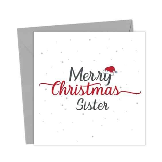 Merry Christmas Sister – Christmas Card