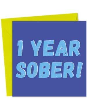1 Year Sober - Blue