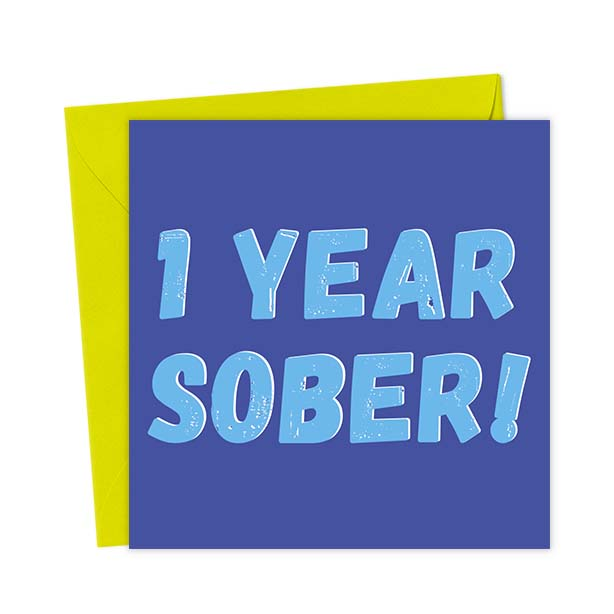 1 Year Sober – Blue