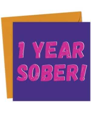1 Year Sober - Pink
