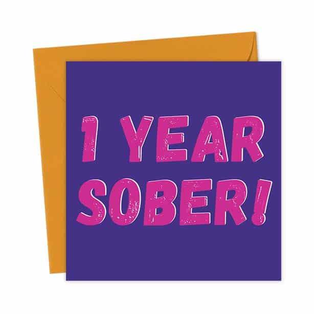 1 Year Sober – Pink