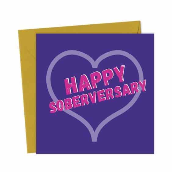 Happy Soberversary Greeting Card
