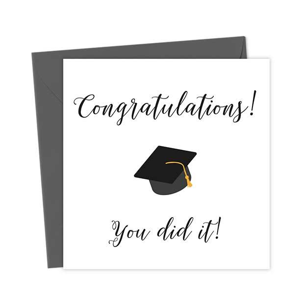 Congratulations! You did it!