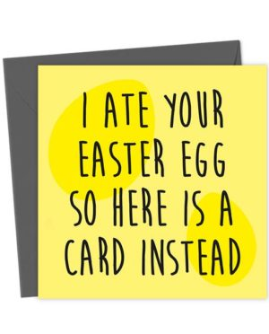 I ate your Easter Egg so here is a card instead