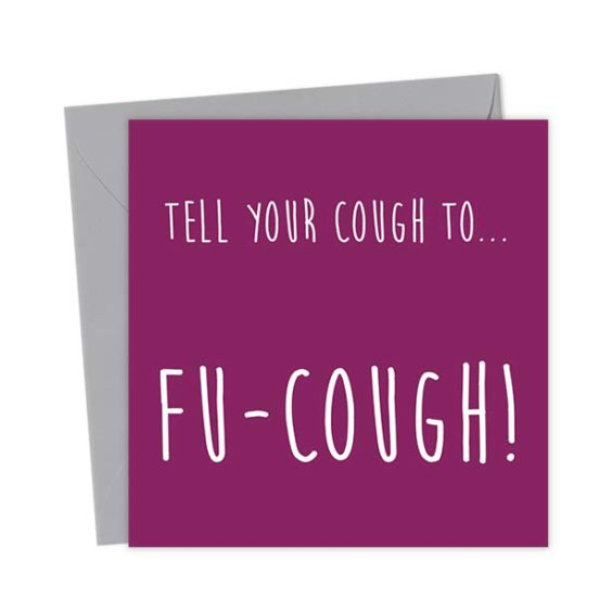 Tell your cough to… Fu-Cough! – Get well soon! – Get Well Card