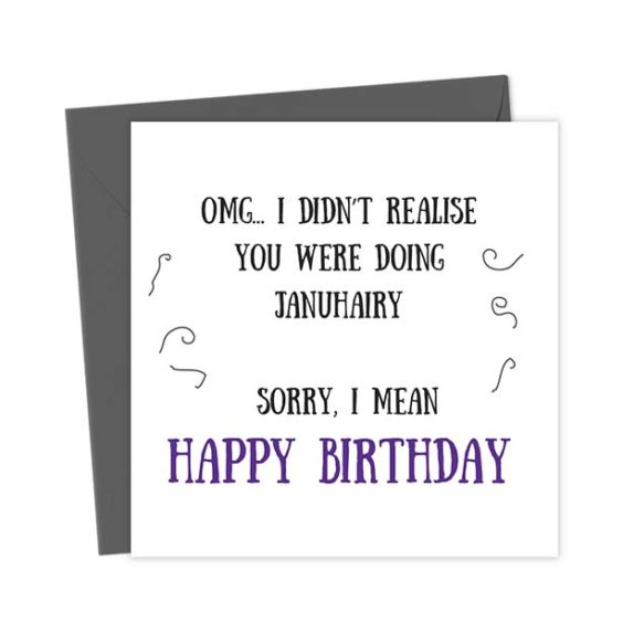 OMG… I didn't realise you were doing Januhairy Sorry I mean Happy Birthday