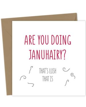 Are you doing Januhary? That's lush that is