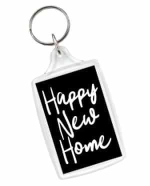 Happy New Home Keyring