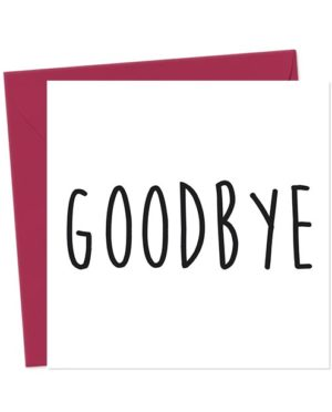 Goodbye Leaving Card