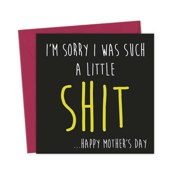 I'm sorry I was such a little Shit …Happy Mother's Day – Greeting Card