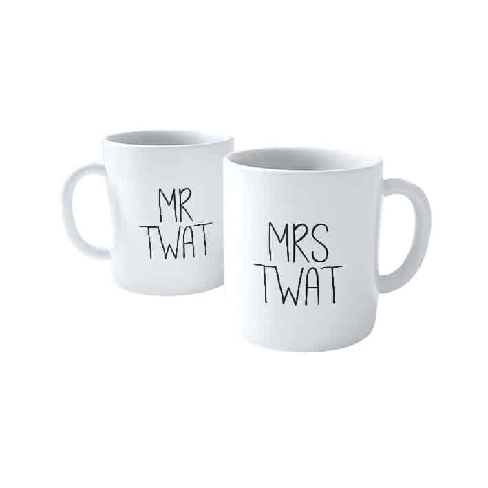 Mr and Mrs Twat (2 mugs)