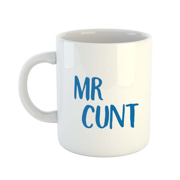 Mr Cunt (Blue) Mug