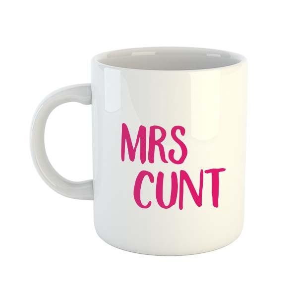 Mrs Cunt (Pink) Mug