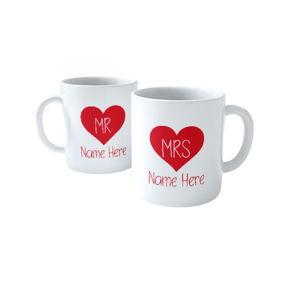 Mr and Mrs Name (2 Mugs)