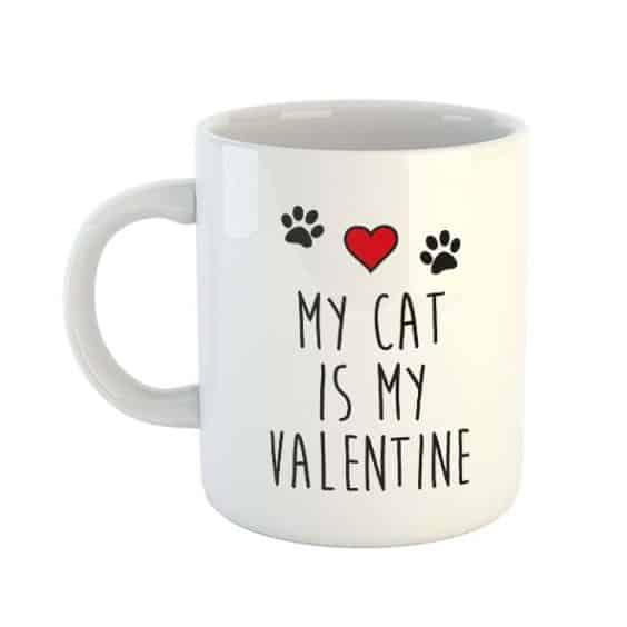 My Cat is my Valentine Mug