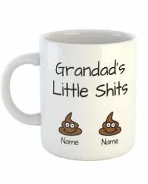 Grandad's Little Shits Personalised Names Mug