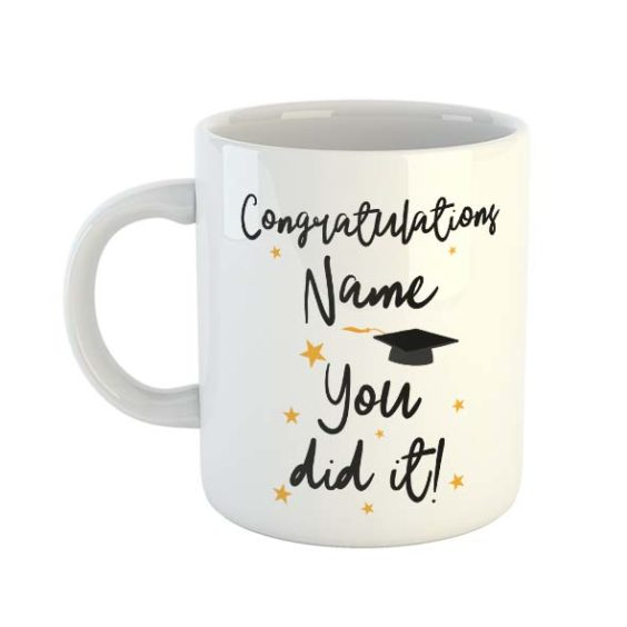 Congratulations You Did It Personalised Name Mug
