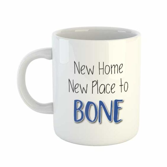 New Home New Place to Bone (Blue) Mug