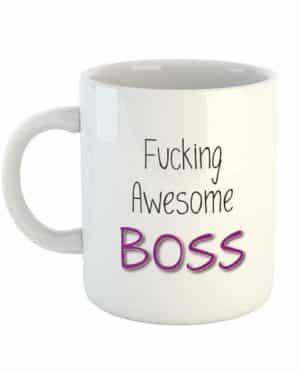 Fucking Awesome Boss (Purple) Mug