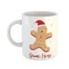 Gingerbread Person Christmas Personalised Name Mug