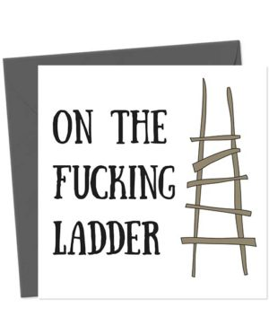 On the fucking ladder - Funny New Home Card