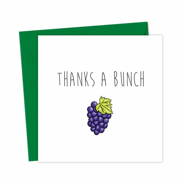 Thanks a bunch Grapes card