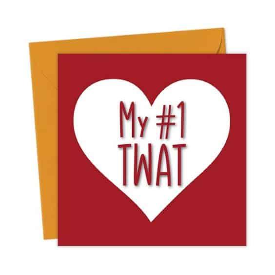 My #1 Twat Heart Valentine's Card – Love & Valentine's Card