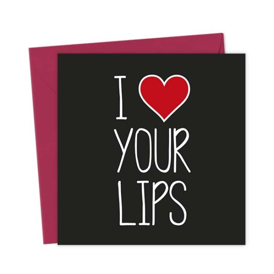 I Heart Your Lips – Love & Valentine's Card