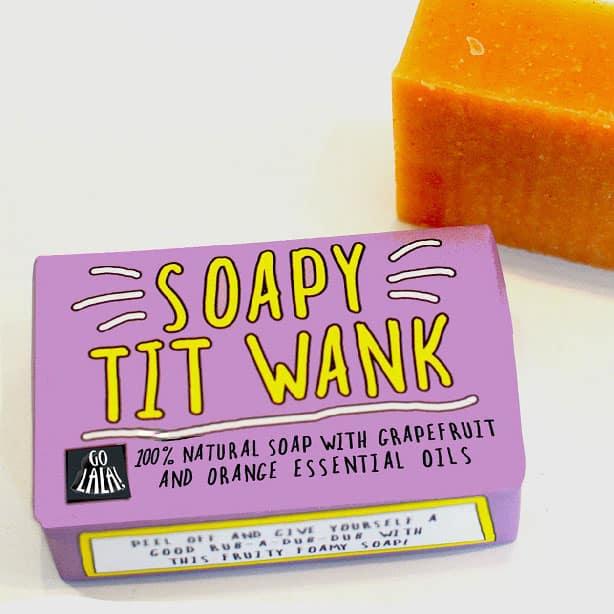 Soapy Tit Wank Soap Bar Funny Soap